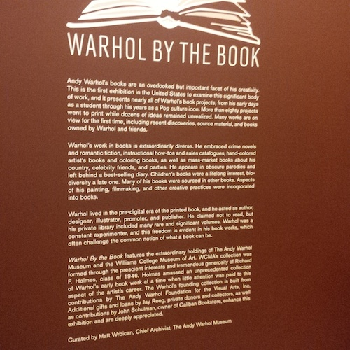 Warhol by the Book Exhibition