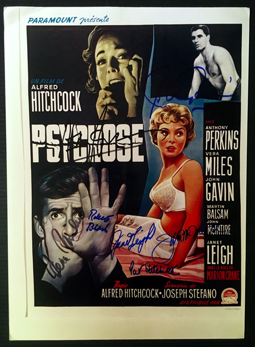 Psycho, Signed Poster