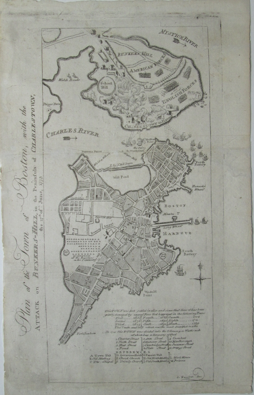 Battle of Bunker Hill Map