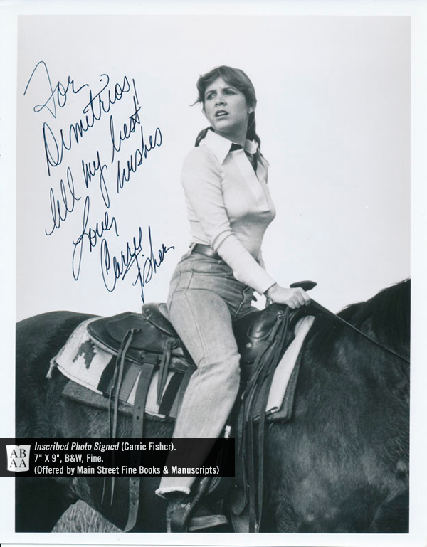 Carrie Fisher, Inscribed Photo Signed