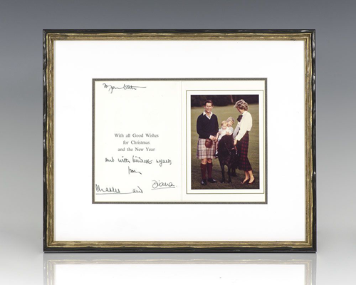 Charles & Diana, Signed Christmas Card