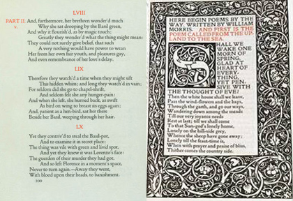 Comparison of Doves Press layout vs Kelmscott Press