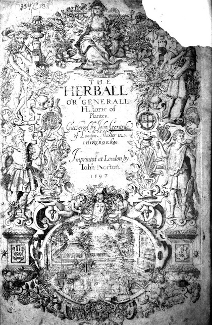 The Herball title page