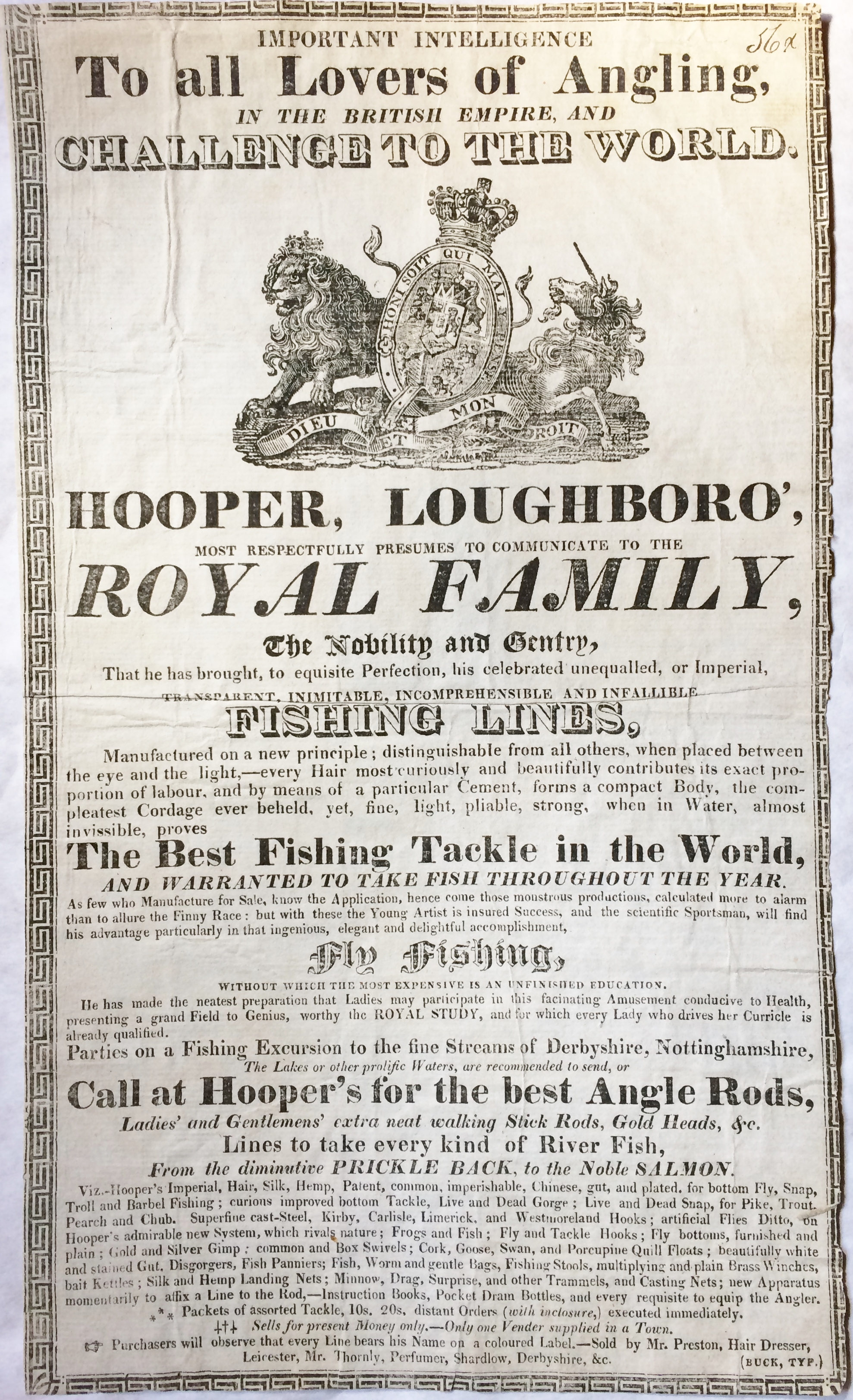 Angling Broadside (Hooper, William)
