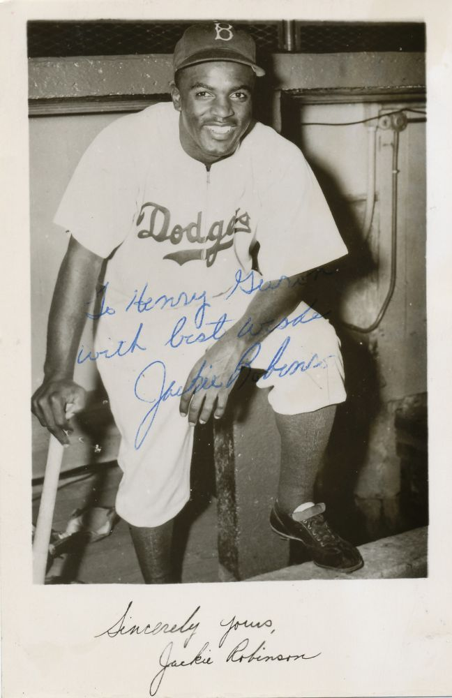 Jackie Robinson, Signed Photograph