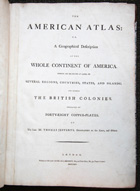 Title Page, Jeffreys' The American Atlas