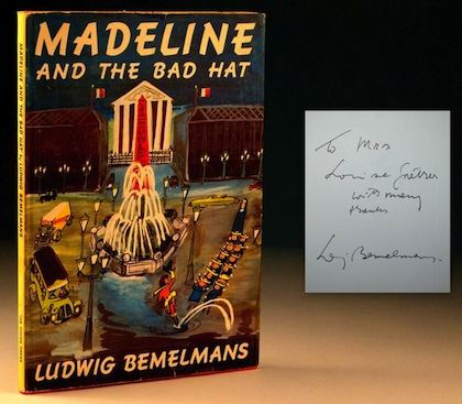 Madeline and the Bad Hat, first edition, by Ludwig Bemelmans