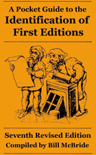 Pocket Guide to Identification of First Editions