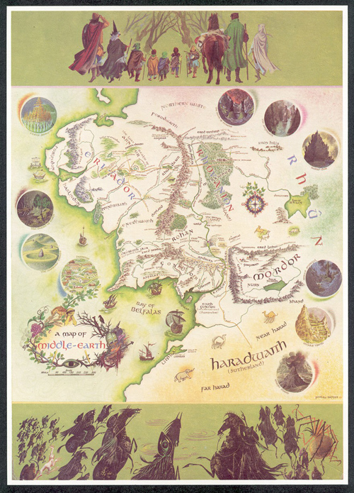 Bodleian acquires unique map of middle earth the new antiquarian middle earth map pauline baynes gumiabroncs Image collections