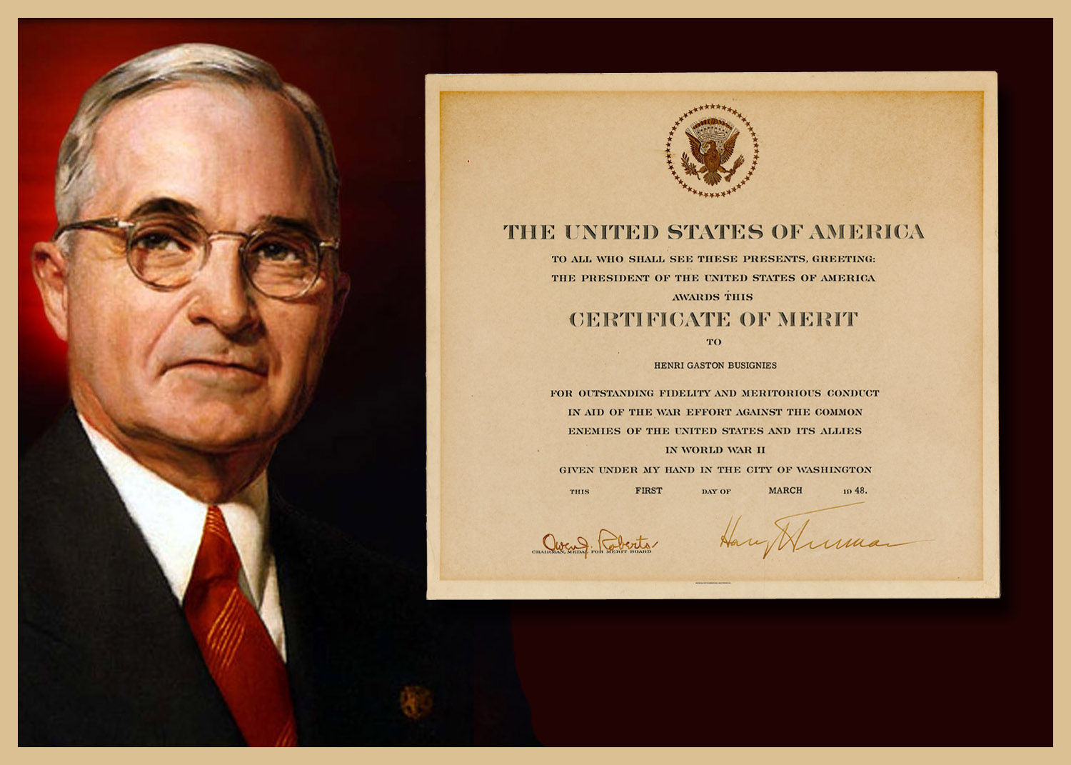 Signed by President Truman
