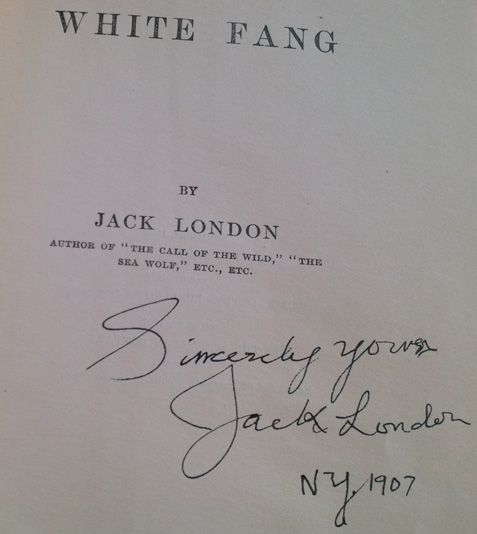 White Fang Fake Signature