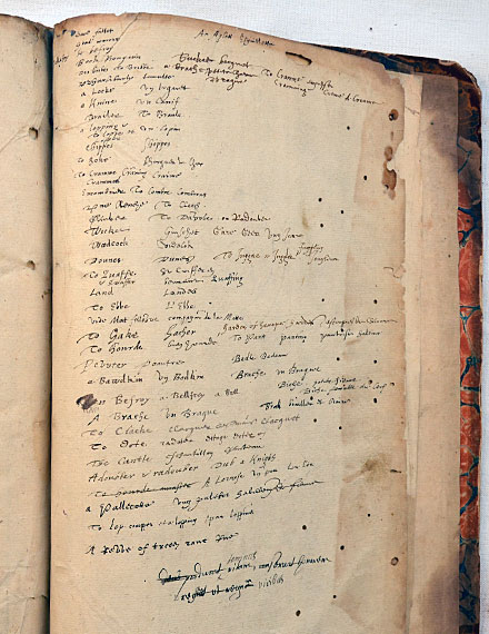 Shakespeare's Annotations in Baret's Alvearie