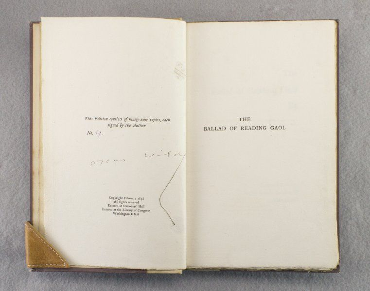 The Ballad of Reading Gaol (Signed) by Oscar Wilde