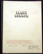 Blade Runner The Original Script