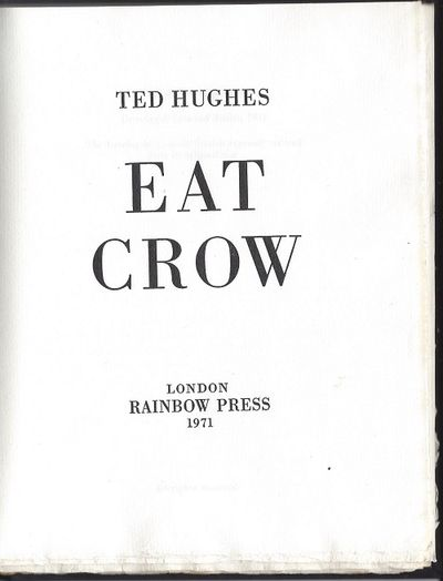 Eat Crow by Ted Hughes