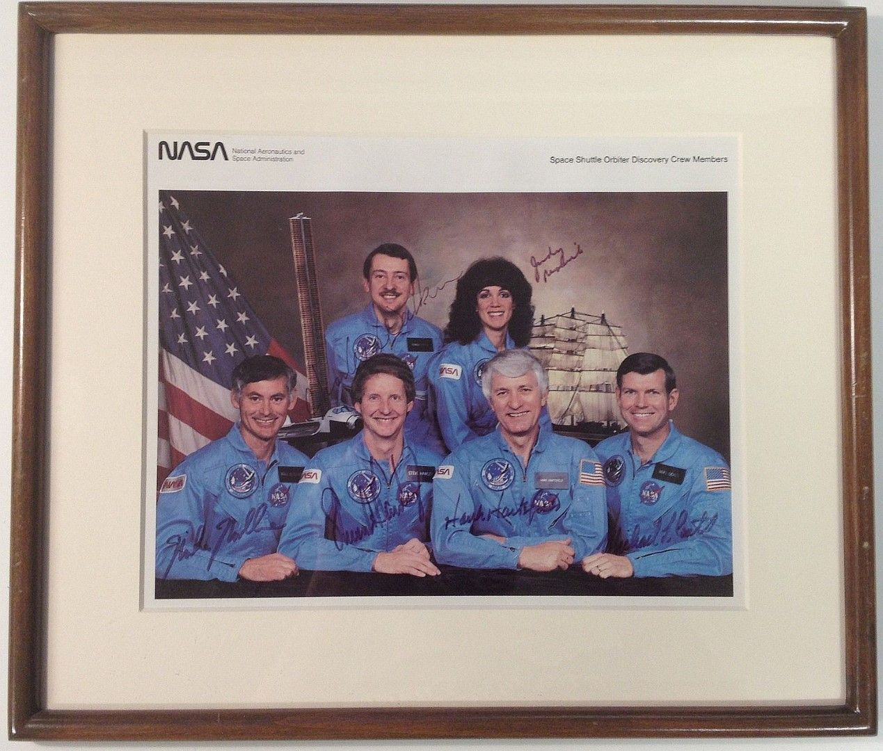 NASA Discovery Crew Signed Photograph