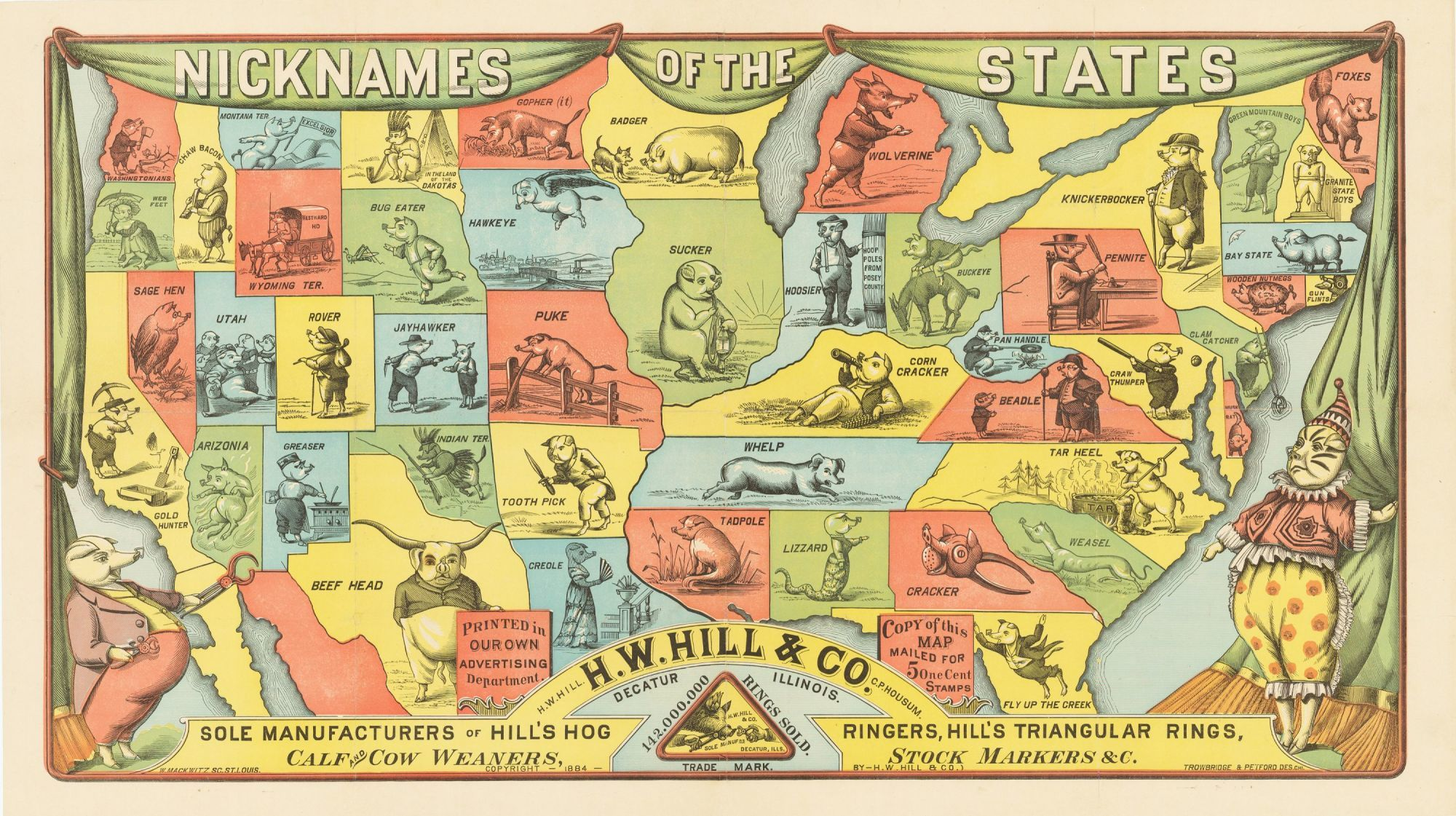 Map: Nicknames of the States