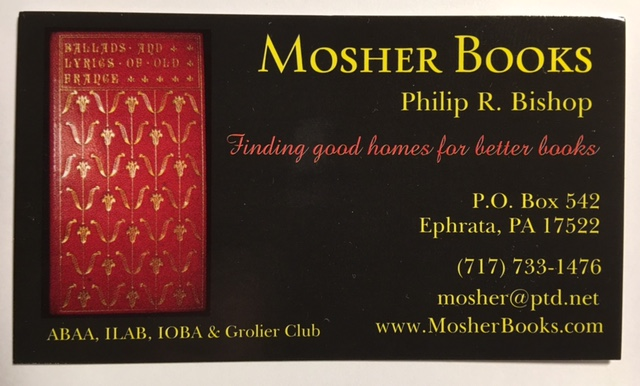 MOSHER BOOKS